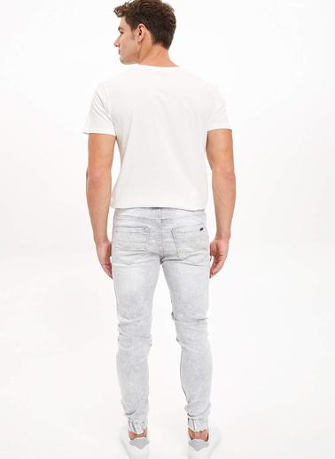 DeFacto Slim Fit Jean Jogger Pantolon Gri